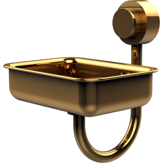 Venus Collection Soap Dish, Premium Finish, Polished Brass