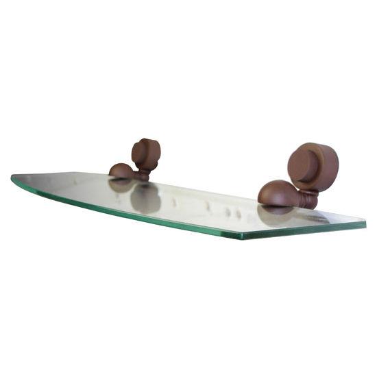Allied Brass Venus Collection 18'' Glass Shelf, Premium Finish, Rustic Bronze