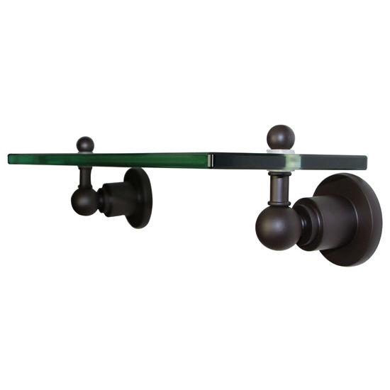 Allied Brass Astor Place Collection 16'' Glass Shelf, Premium Finish, Oil Rubbed Bronze