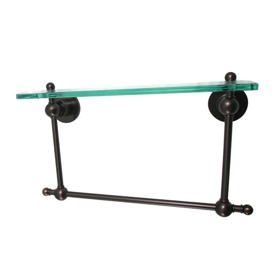 Allied Brass Astor Place Collection 16'' Shelf with Towel Bar, Premium Finish, Oil Rubbed Bronze