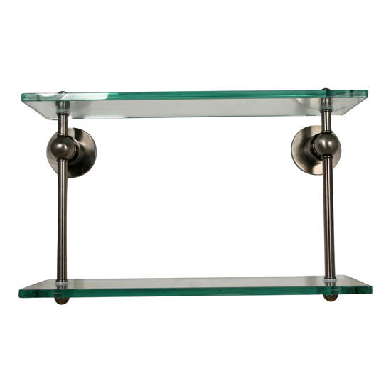 Allied Brass Astor Place Collection 16'' Double Glass Shelf, Premium Finish, Oil Rubbed Bronze