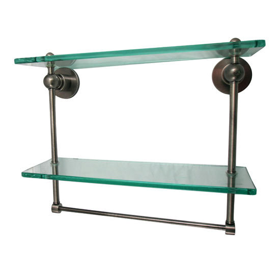 Allied Brass Astor Place Collection 16'' Double Shelf w/Towel Bar, Premium Finish, Oil Rubbed Bronze