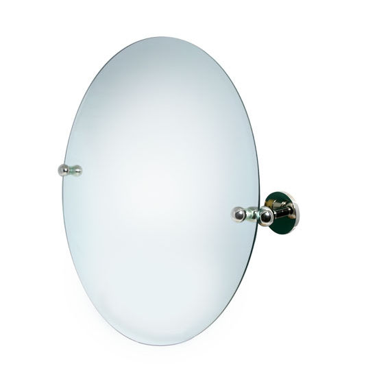 "Allied Brass Astor Place 22"" Round Tilt Mirror, Standard, Polished Chrome"