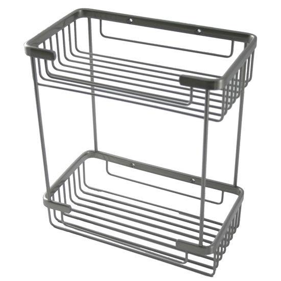 Allied Brass Shower Basket Rectangular Double Shower Basket