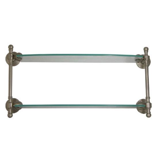 Allied Brass Retro-Wave Collection 18'' W - 24'' W Double Glass Shelf