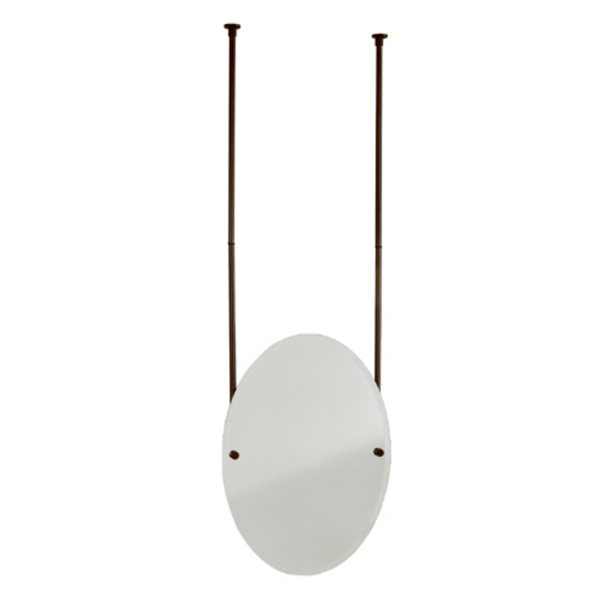 Allied Brass - Oval Frameless Ceiling Hung Mirror