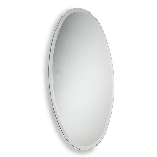 Allied Brass Frameless Oval Wall Mounted Mirror