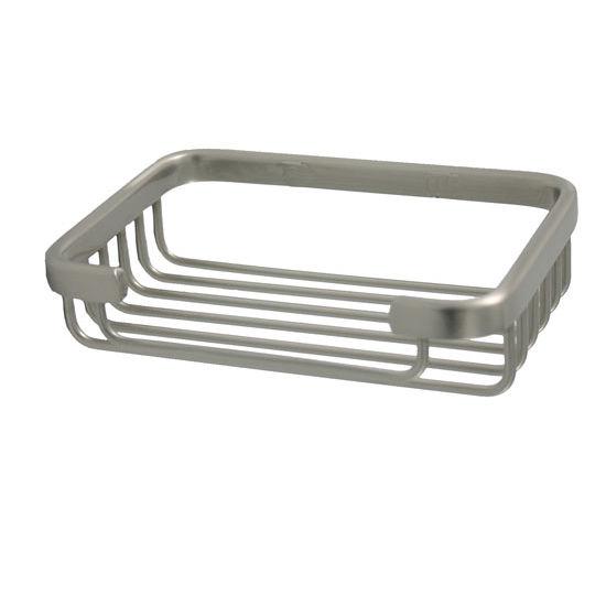 Allied Brass Shower Basket Collection Rectangular Shower Basket, Premium Finish, Satin Nickel