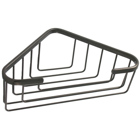 Allied Brass Shower Basket Collection Corner Shower Basket, Premium Finish, Oil Rubbed Bronze