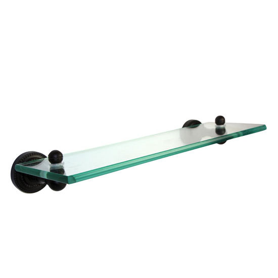 Allied Brass Dottingham Collection 16'' Glass Shelf, Premium Finish, Oil Rubbed Bronze