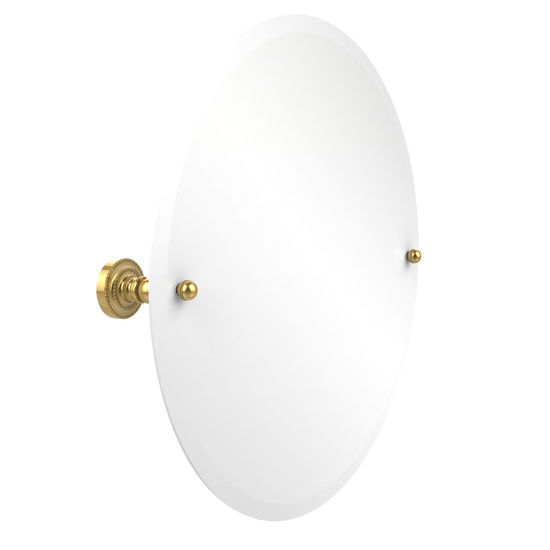 "Allied Brass Round Tilt Mirror w/ Beveled Edge, Dottingham, 22"" dia., Standard, Polished Brass"