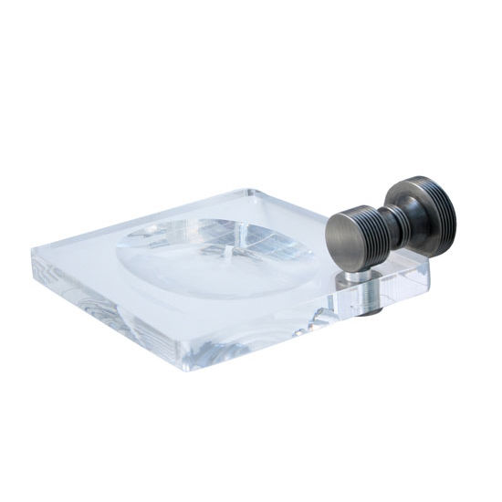 Allied Brass Foxtrot Collection Soap Dish Lucite, Premium Finish, Antique Pewter