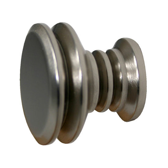 """Allied Brass Designer 1-1/8"""" Cabinet Knob, Premium Finish, Satin Nickel"""