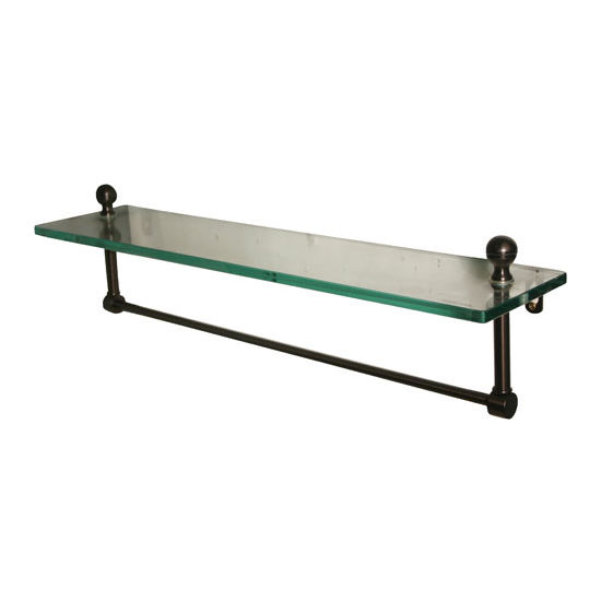 Allied Brass Mambo Collection 16'' Shelf w/Towel Bar, Premium Finish, Oil Rubbed Bronze