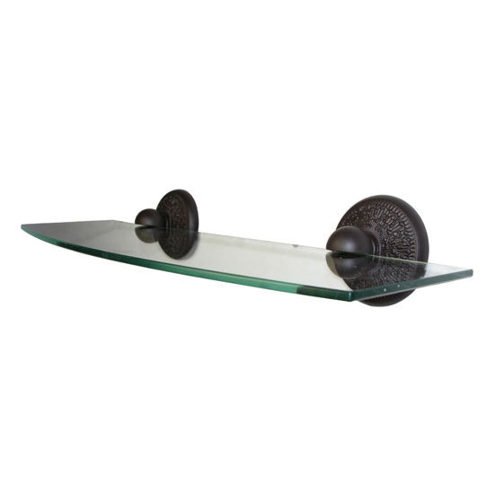 Allied Brass Monte Carlo Collection 18'' Glass Shelf, Premium Finish, Oil Rubbed Bronze