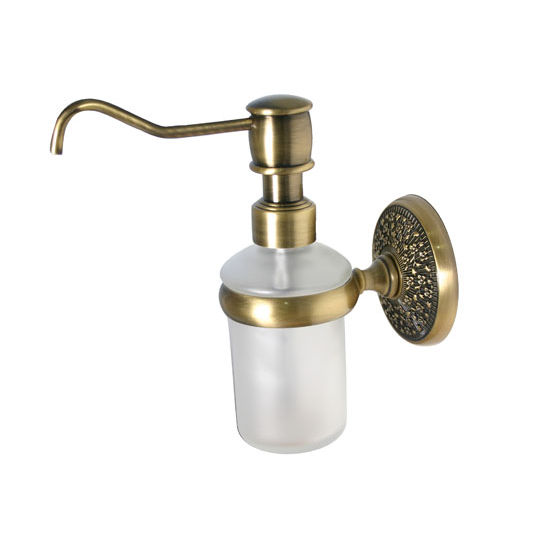 Allied Brass Monte Carlo Collection Wall Mounted Soap Dispenser, Premium Finish, Antique Brass