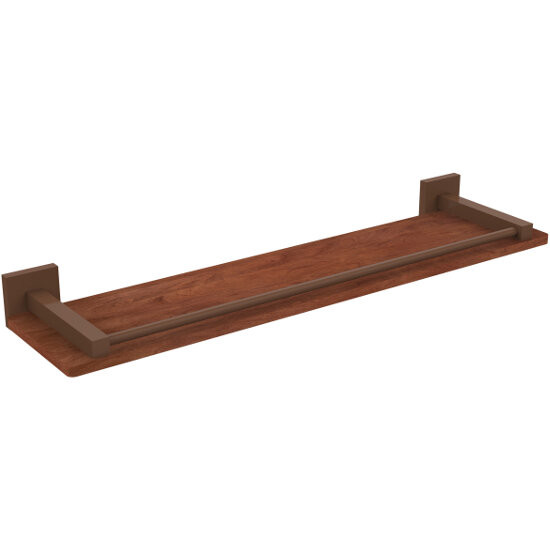 allied brass montero collection solid ipe ironwood shelf wit