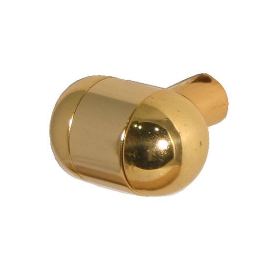 "Allied Brass 1-1/4"" Cabinet Knob, Standard Finish, Polished Brass"
