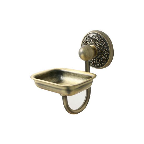Allied Brass Prestige Monte Carlo Collection Soap Dish Holder, Premium Finish, Antique Brass