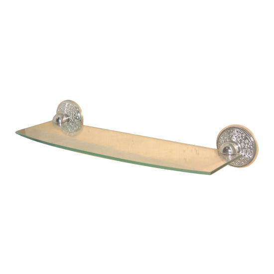 Allied Brass Prestige Monte Carlo Collection 18'' Glass Shelf, Premium Finish, Polished Nickel