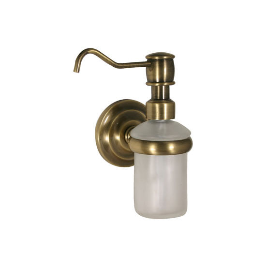 Allied Brass Prestige Que New Collection Wall Mounted Soap Dispenser, Premium Finish, Antique Brass