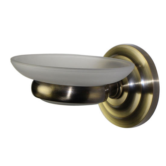 Allied Brass Prestige Que New Collection Wall Mounted Soap Dish, Premium Finish, Antique Brass