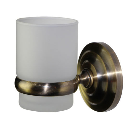 Allied Brass Prestige Que New Collection Wall Mounted Tumbler Holder, Premium Finish, Antique Brass