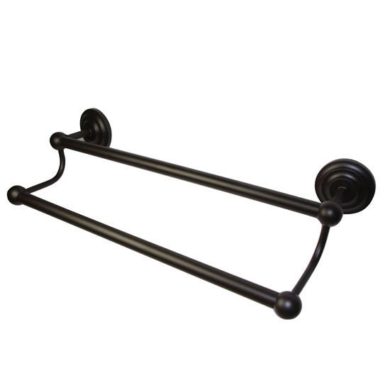 Allied Brass Prestige Que Collection 18'' Double Towel Bar, Premium Finish, Oil Rubbed Bronze