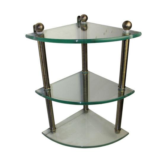 Allied Brass Prestige Regal Collection Triple Corner Glass Shelf, Premium Finish, Antique Brass