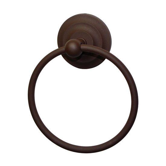 Allied Brass Que New Collection Towel Ring, Premium Finish, Rustic Bronze