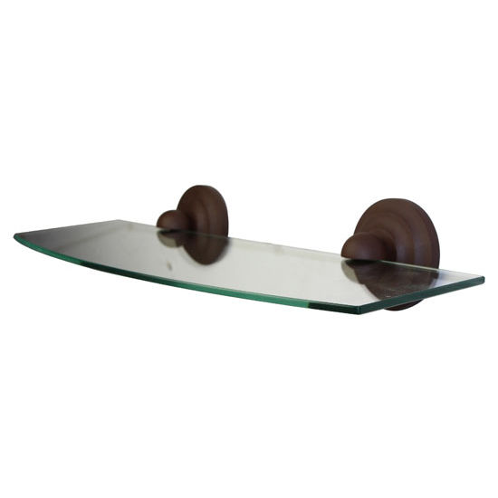 Allied Brass Que New Collection 18'' Glass Shelf, Premium Finish, Rustic Bronze