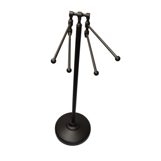 Allied Brass Retro-Dot Collection 4-Arm Towel Stand, Premium Finish, Oil Rubbed Bronze