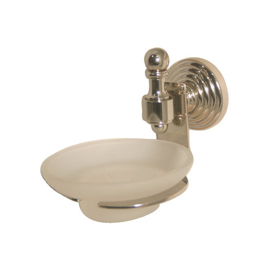 Allied Brass Retro-Wave Collection Soap Dish w/Glass Liner, Premium Finish, Polished Nickel