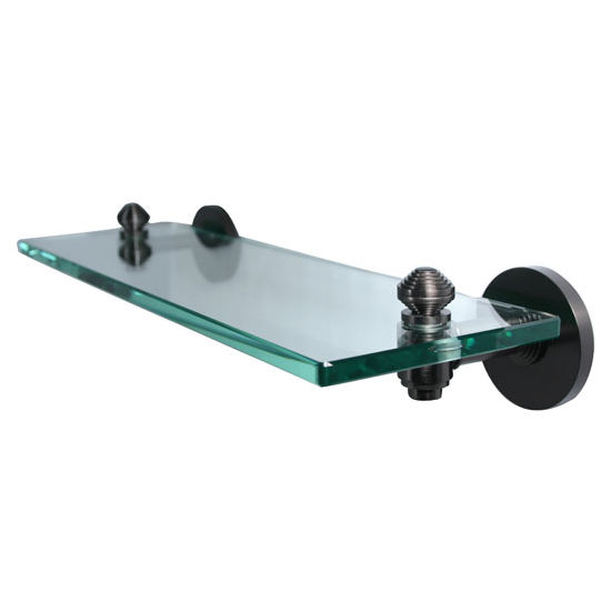 Allied Brass Southbeach Collection 16'' Glass Shelf, Premium Finish, Oil Rubbed Bronze