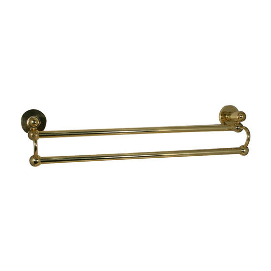 Allied Brass Soho Collection 18'' Double Towel Bar, Standard Finish, Polished Brass