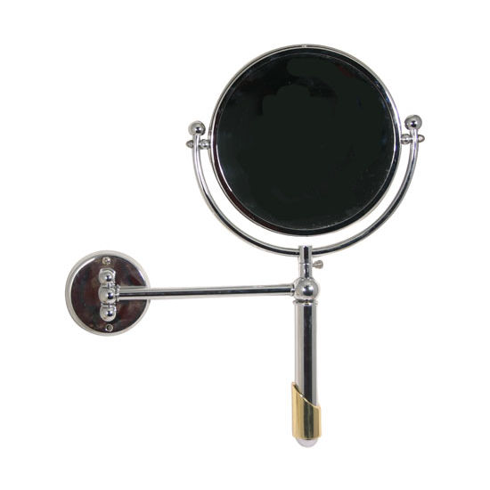"Allied Brass Soho 8"" Extendable Wall Mirror, 2x Magnification, Standard, Polished Chrome"