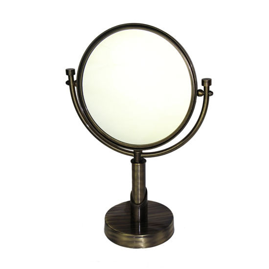 Allied Brass Tribeca Table Mirror, 2x Magnification, Premium, Antique Brass