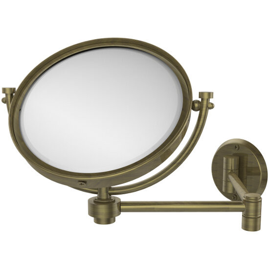 2x Magnification, Smooth Texture, Antique Brass Mirror