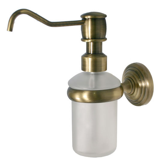 Allied Brass Waverly Place Collection Wall Mounted Soap Dispenser, Premium Finish, Antique Brass