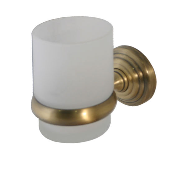 Allied Brass Waverly Place Collection Wall Mounted Tumbler Holder, Premium Finish, Antique Brass