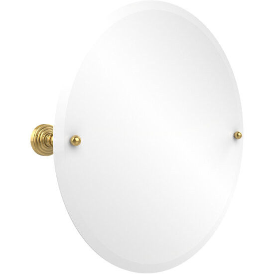 "Allied Brass Round Tilt Mirror w/ beveled edge, Waverly Place, 22"" dia., Standard, Polished Brass"