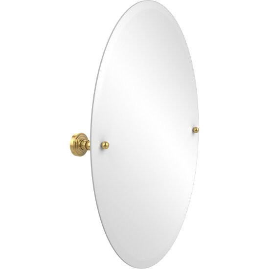 "Allied Brass Oval Tilt Mirror, Waverly Place, 21""W x 29""H, Standard, Polished Brass"