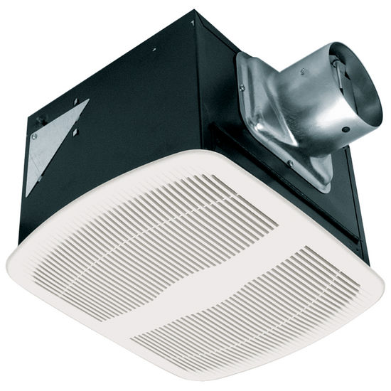 Bathroom fans deluxe ultra quiet series exhaust fan 50 110 cfm by airking for Ultra quiet bathroom exhaust fan with light