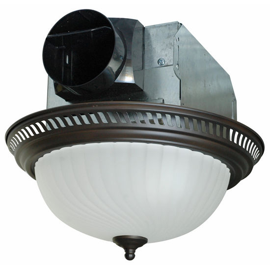Kitchen Ceiling Exhaust Fan With Light: Air King Quiet Decorative Round Bathroom Exhaust Fan With