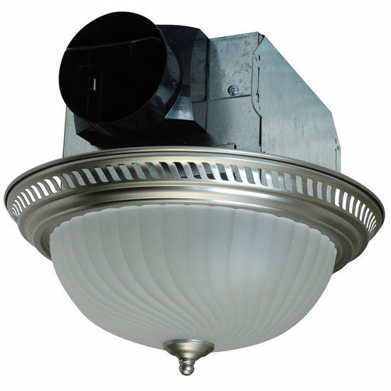 air king quiet decorative round bathroom exhaust fan with light