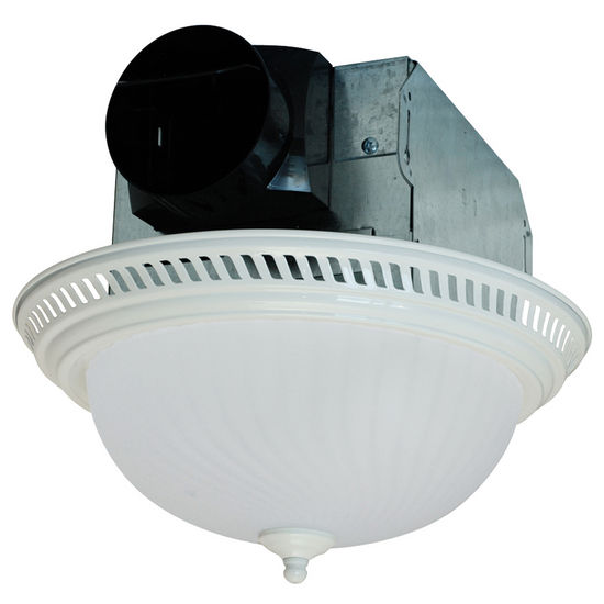 View Larger Image. Air King Quiet Decorative Round Bathroom Exhaust Fan with Light