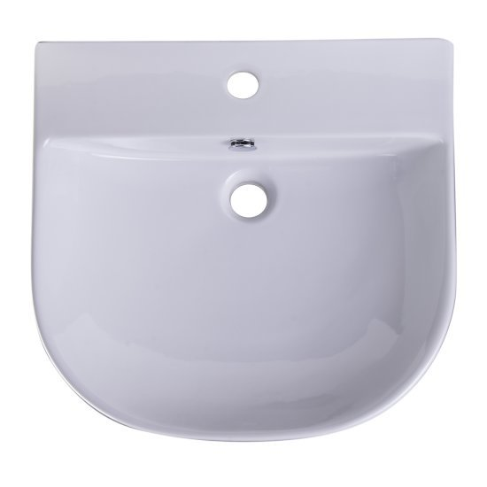 "20"" White D-Bowl Bath Sink"