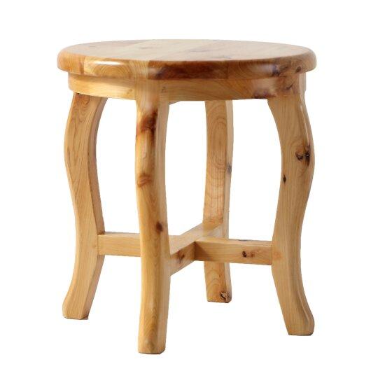 "ALFI brand 11"" Cedar Wood Round  Stool Multi-Purpose Accessory in Natural Wood"