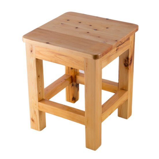 "Alfi brand 10""x10"" Square Wooden Bench/Stool Multi-Purpose Accessory, 9-7/8"" W x 9-7/8"" D x 11-3/4"" H"