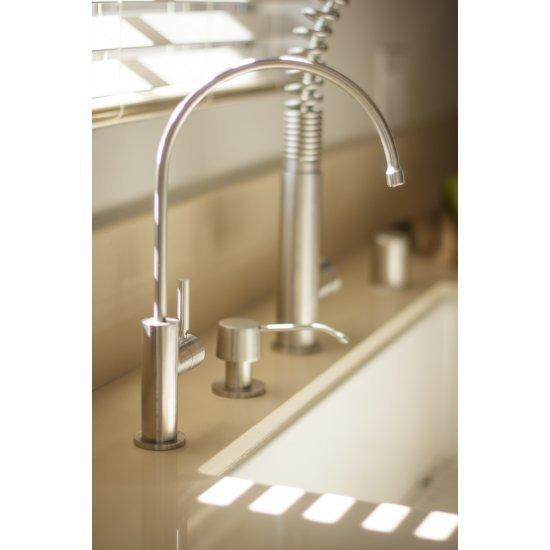 "Alfi brand Solid Brushed Stainless Steel Modern Soap Dispenser, 2-1/2"" H"